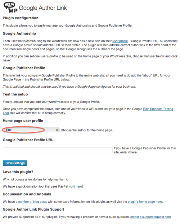 Wordpress-Plugin zur Verknüpfung des Google-Plus-Profils mit dem WordPress-Blog